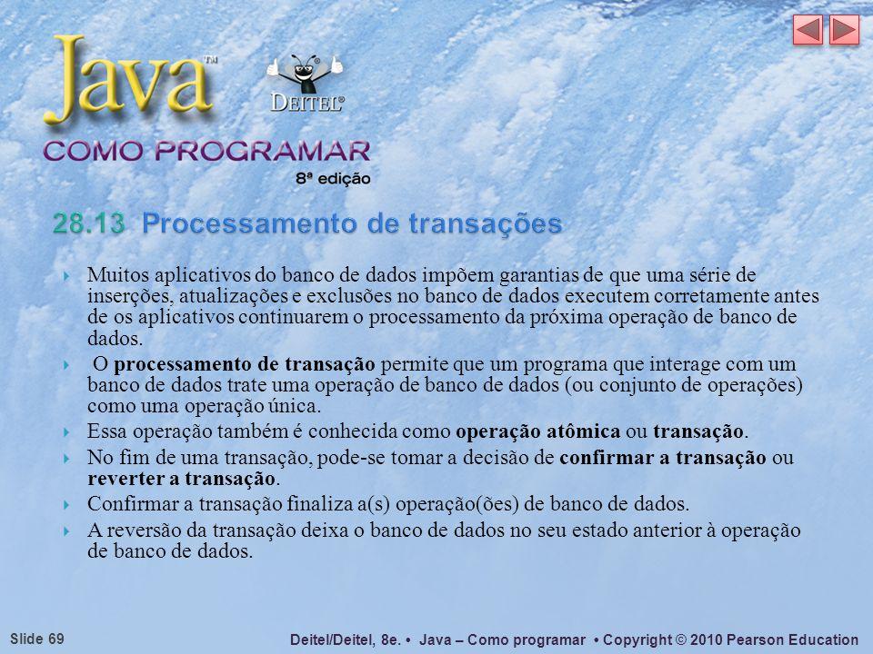 28.13 Processamento de transações