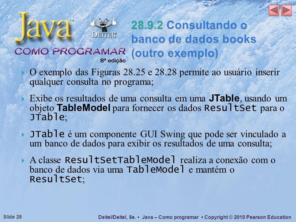28.9.2 Consultando o banco de dados books (outro exemplo)