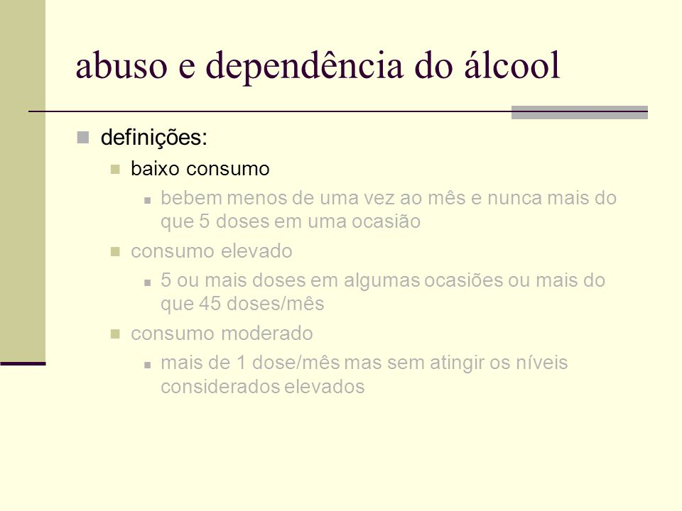 abuso e dependência do álcool