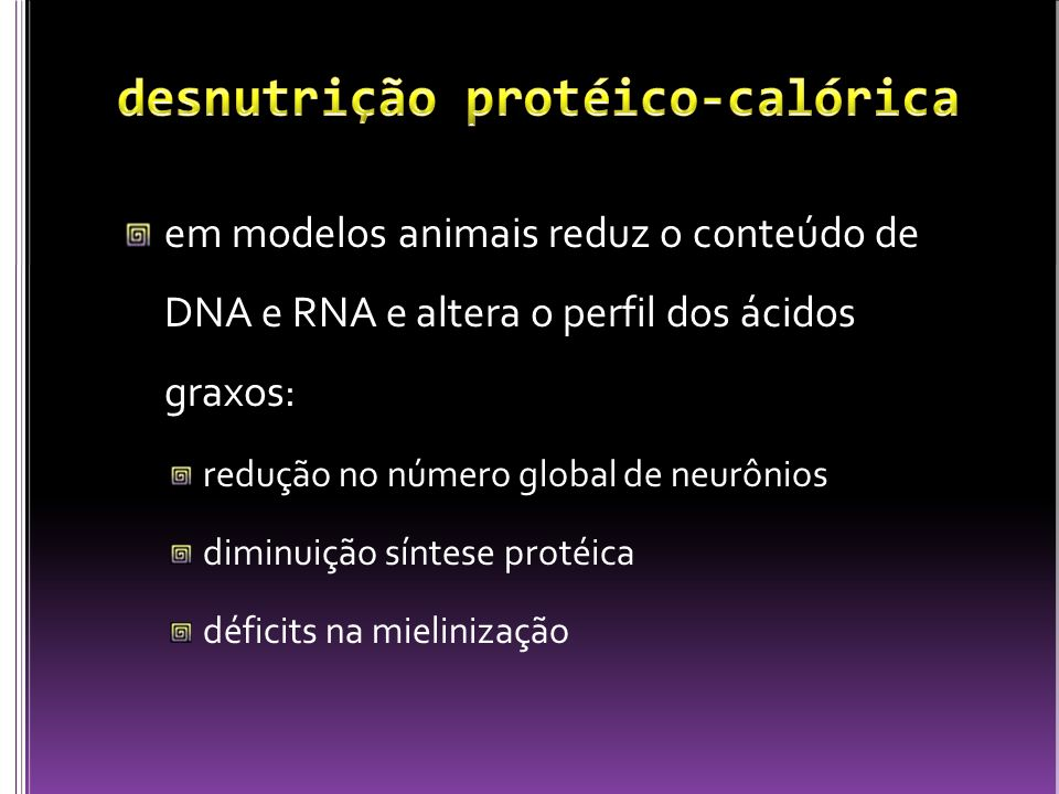 desnutrição protéico-calórica