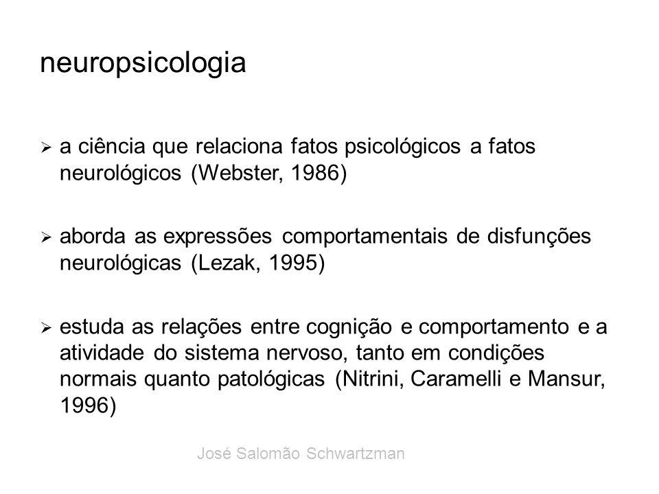 neuropsicologia a ciência que relaciona fatos psicológicos a fatos neurológicos (Webster, 1986)