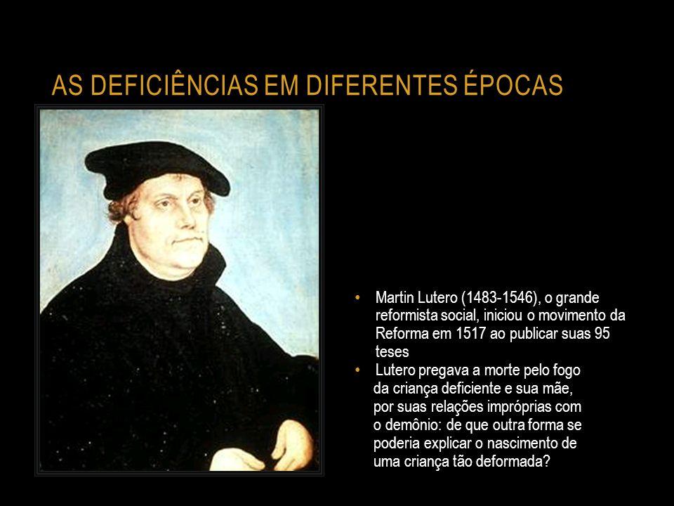 as deficiências em diferentes épocas