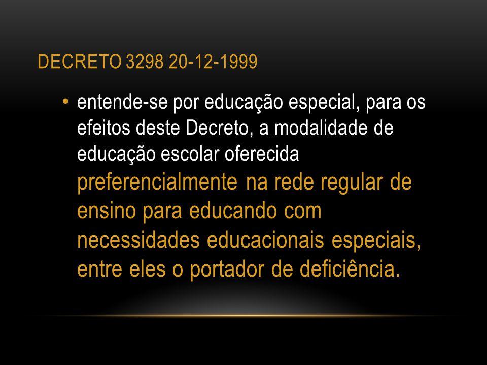 decreto 3298 20-12-1999