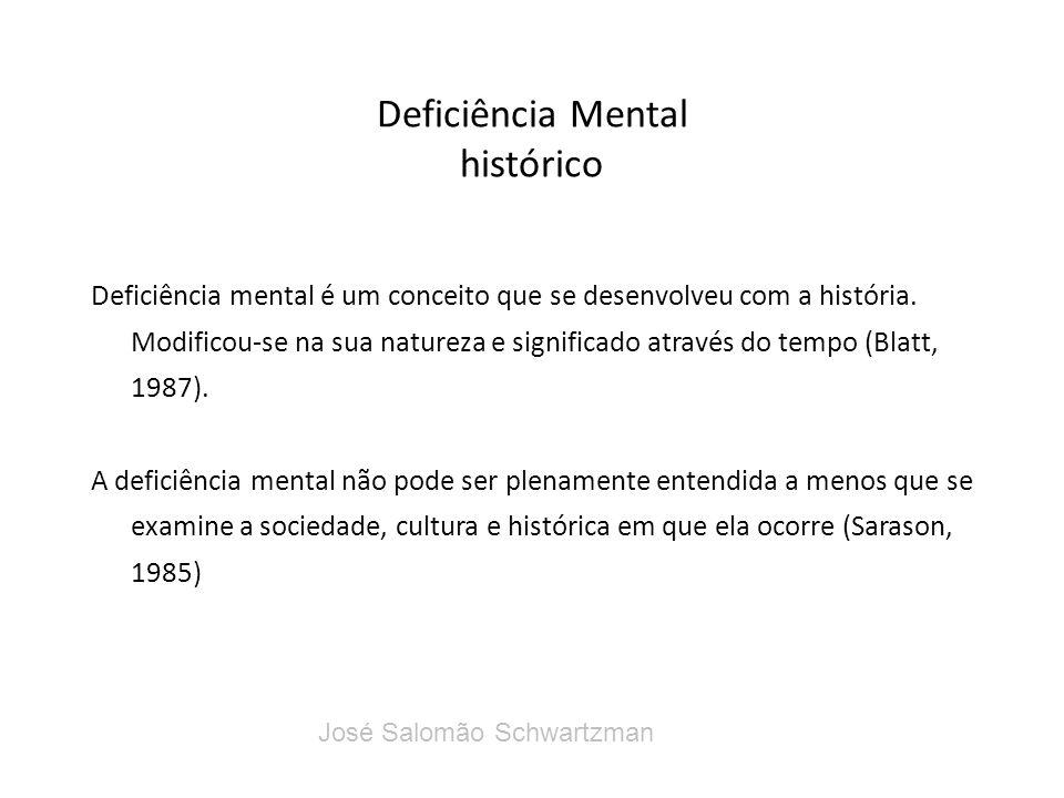 Deficiência Mental histórico