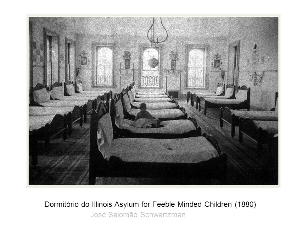 Dormitório do Illinois Asylum for Feeble-Minded Children (1880)