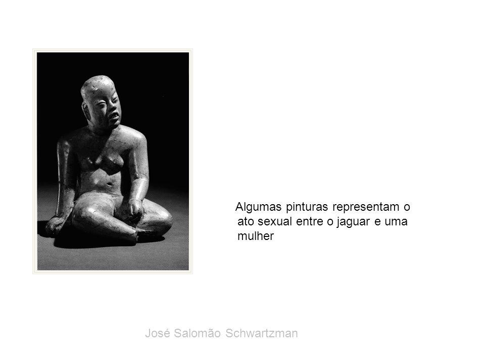 Algumas pinturas representam o ato sexual entre o jaguar e uma mulher