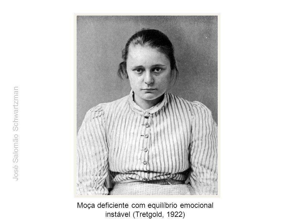 Moça deficiente com equilíbrio emocional