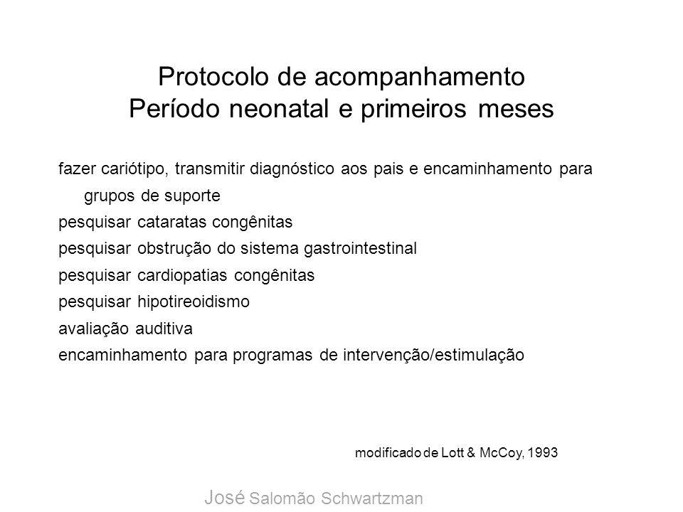 Protocolo de acompanhamento Período neonatal e primeiros meses