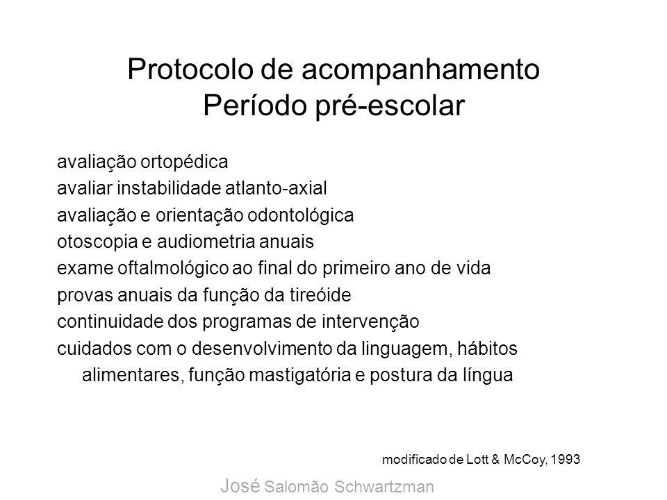 Protocolo de acompanhamento Período pré-escolar