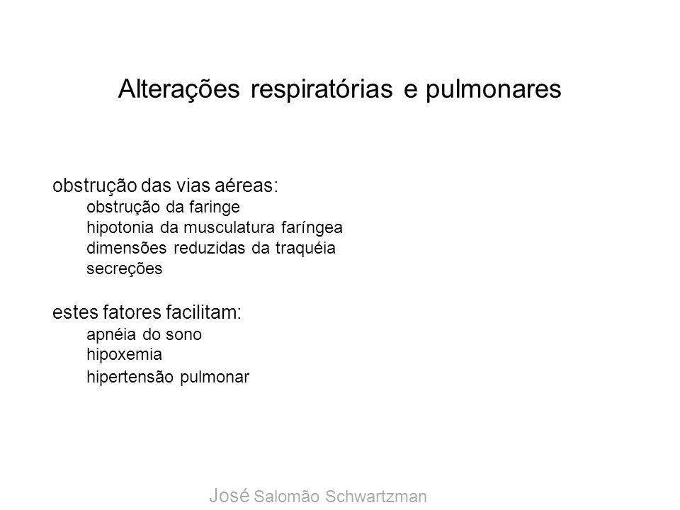 Alterações respiratórias e pulmonares