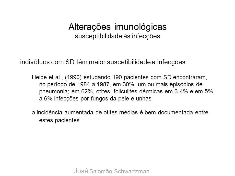 Alterações imunológicas susceptibilidade às infecções