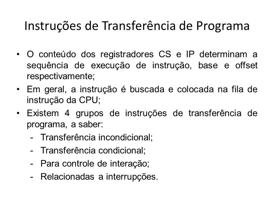 Instruções de Transferência de Programa