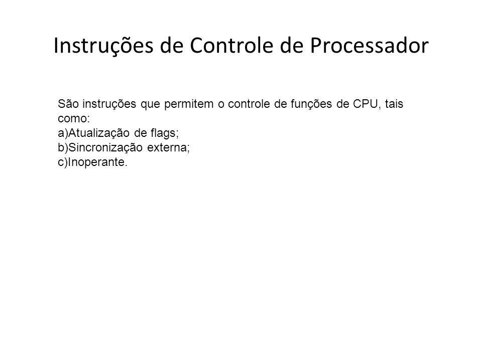 Instruções de Controle de Processador