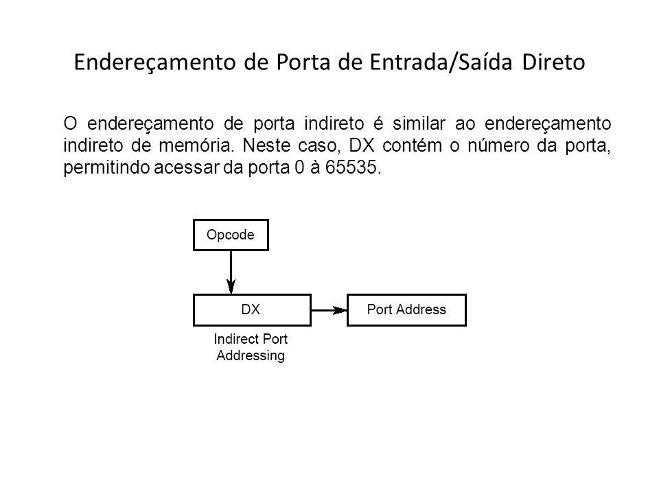 Endereçamento de Porta de Entrada/Saída Direto
