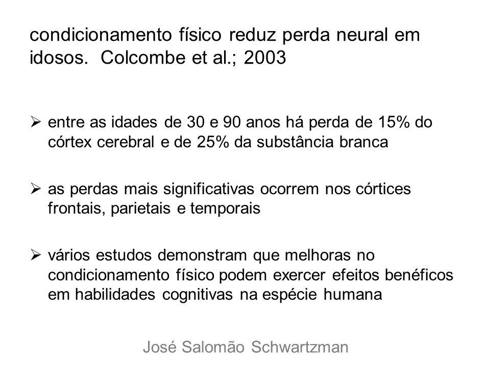 condicionamento físico reduz perda neural em idosos. Colcombe et al