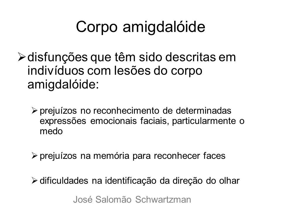 Corpo amigdalóide disfunções que têm sido descritas em indivíduos com lesões do corpo amigdalóide: