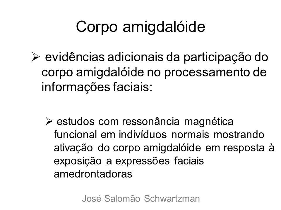 Corpo amigdalóide evidências adicionais da participação do corpo amigdalóide no processamento de informações faciais: