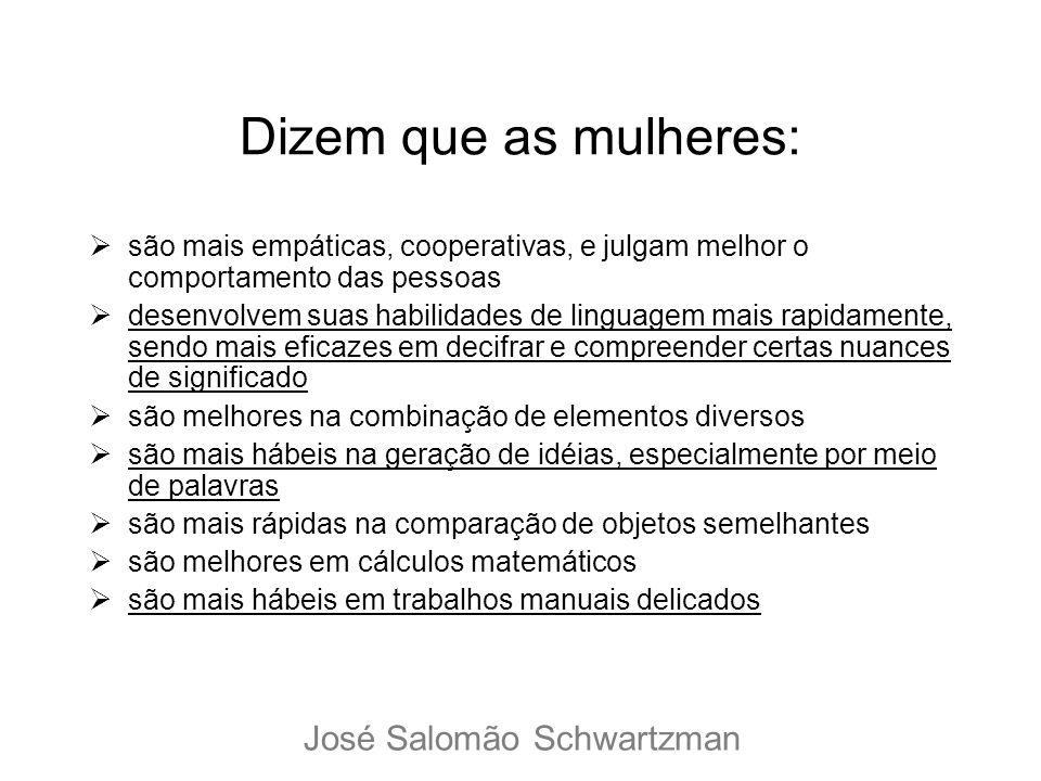 Dizem que as mulheres: José Salomão Schwartzman
