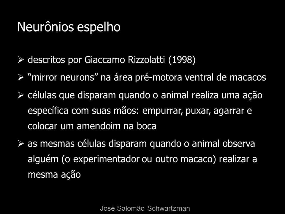Neurônios espelho descritos por Giaccamo Rizzolatti (1998)