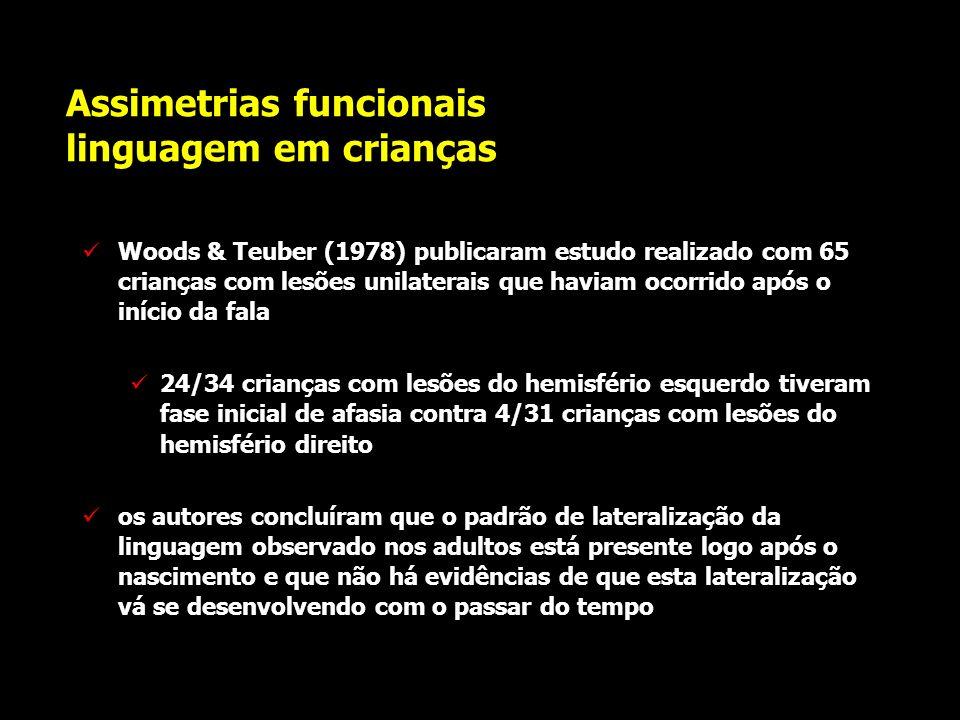 Assimetrias funcionais linguagem em crianças