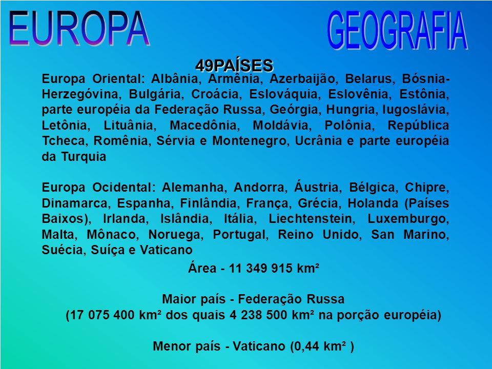 EUROPA GEOGRAFIA 49PAÍSES