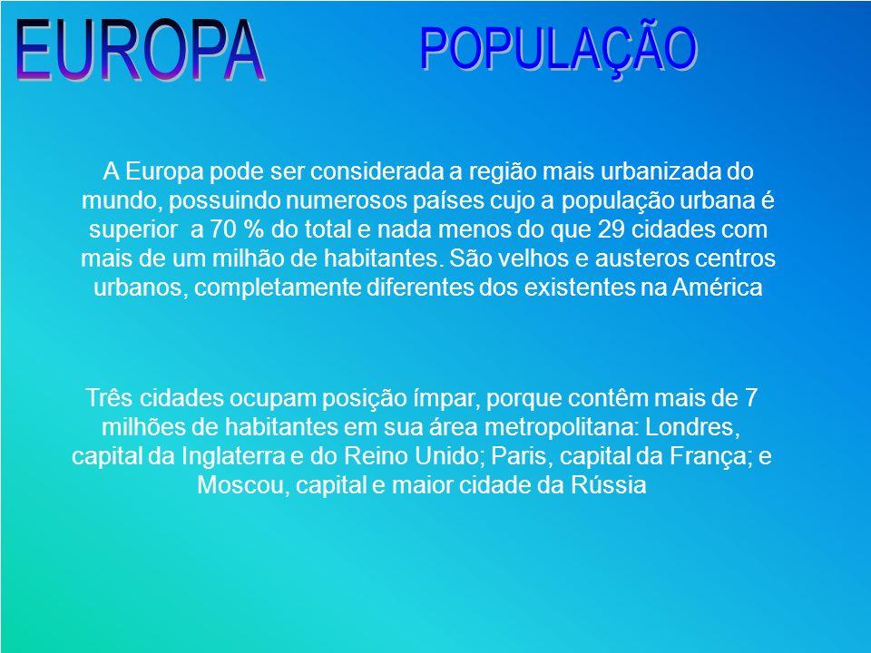 EUROPA POPULAÇÃO.