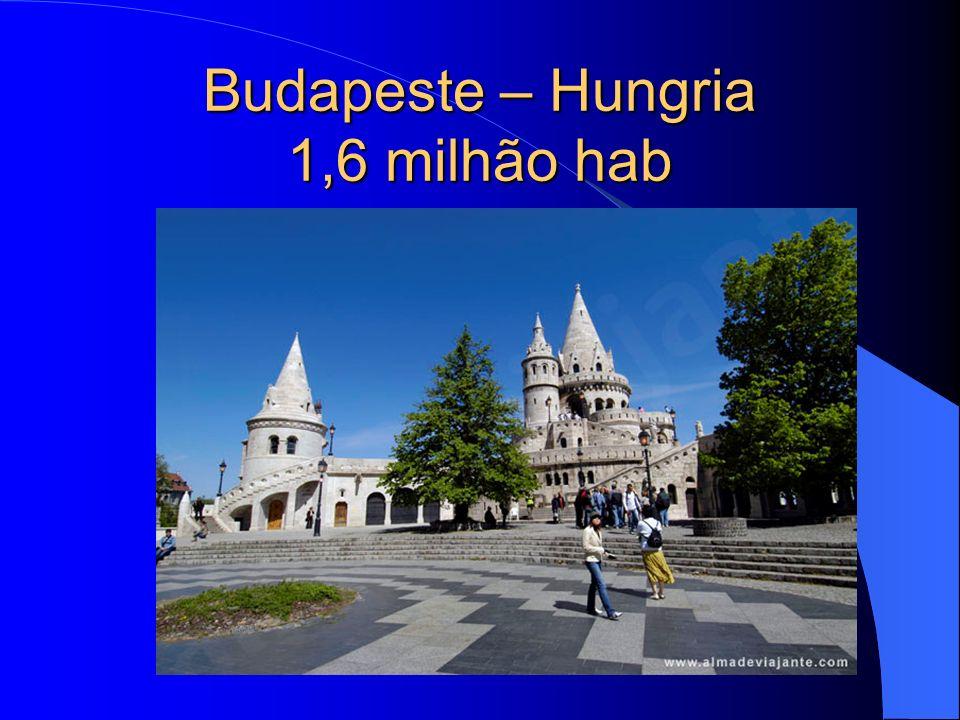 Budapeste – Hungria 1,6 milhão hab
