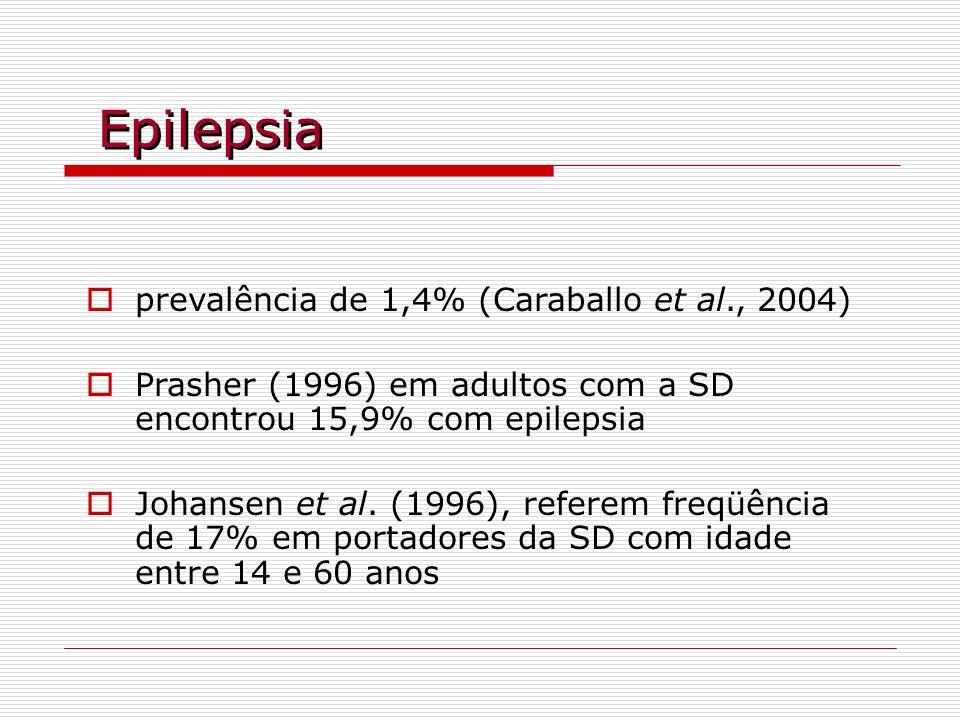Epilepsia prevalência de 1,4% (Caraballo et al., 2004)