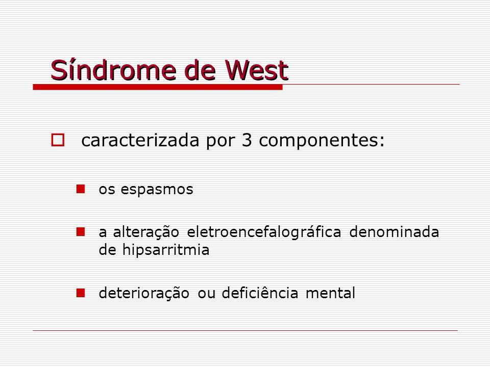 Síndrome de West caracterizada por 3 componentes: os espasmos