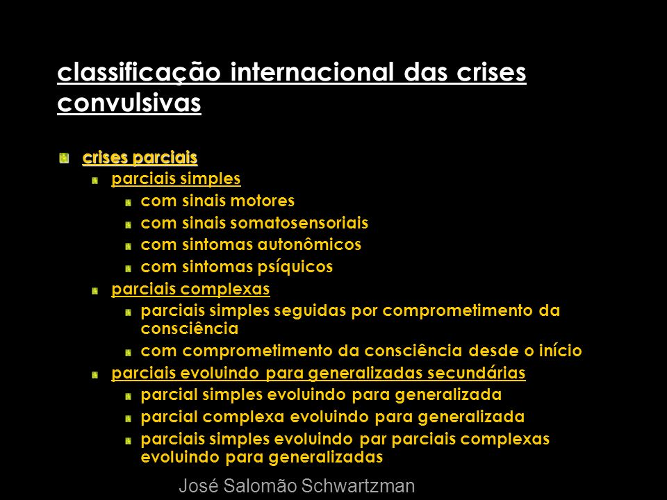 classificação internacional das crises convulsivas