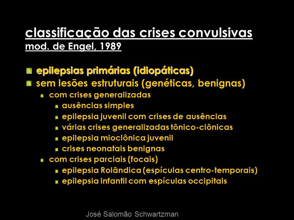 classificação das crises convulsivas mod. de Engel, 1989