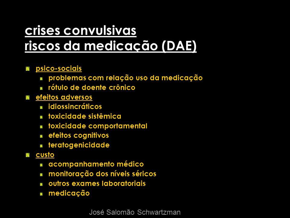 crises convulsivas riscos da medicação (DAE)
