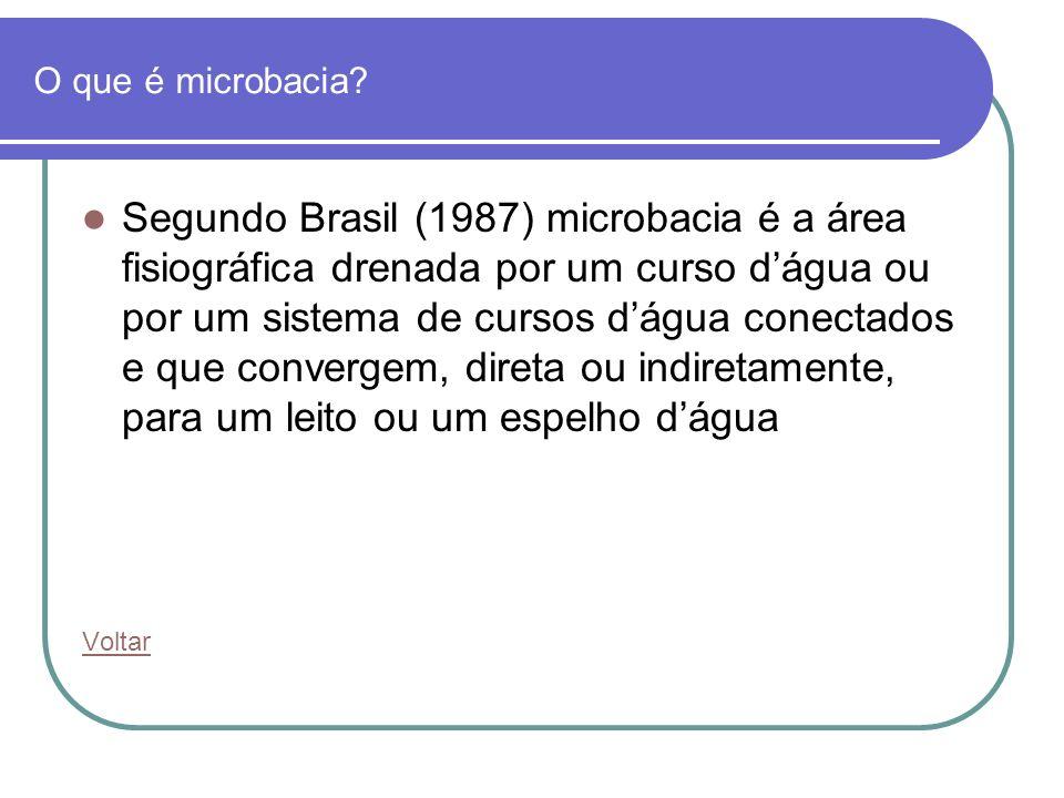 O que é microbacia