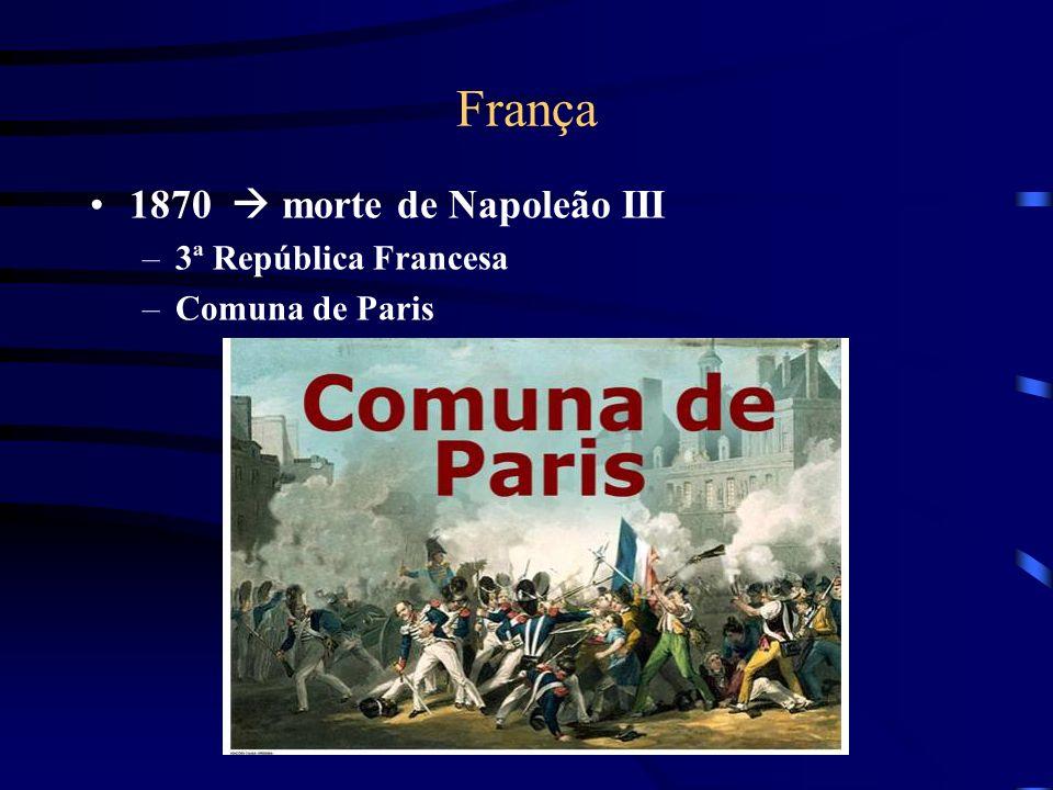 França 1870  morte de Napoleão III 3ª República Francesa