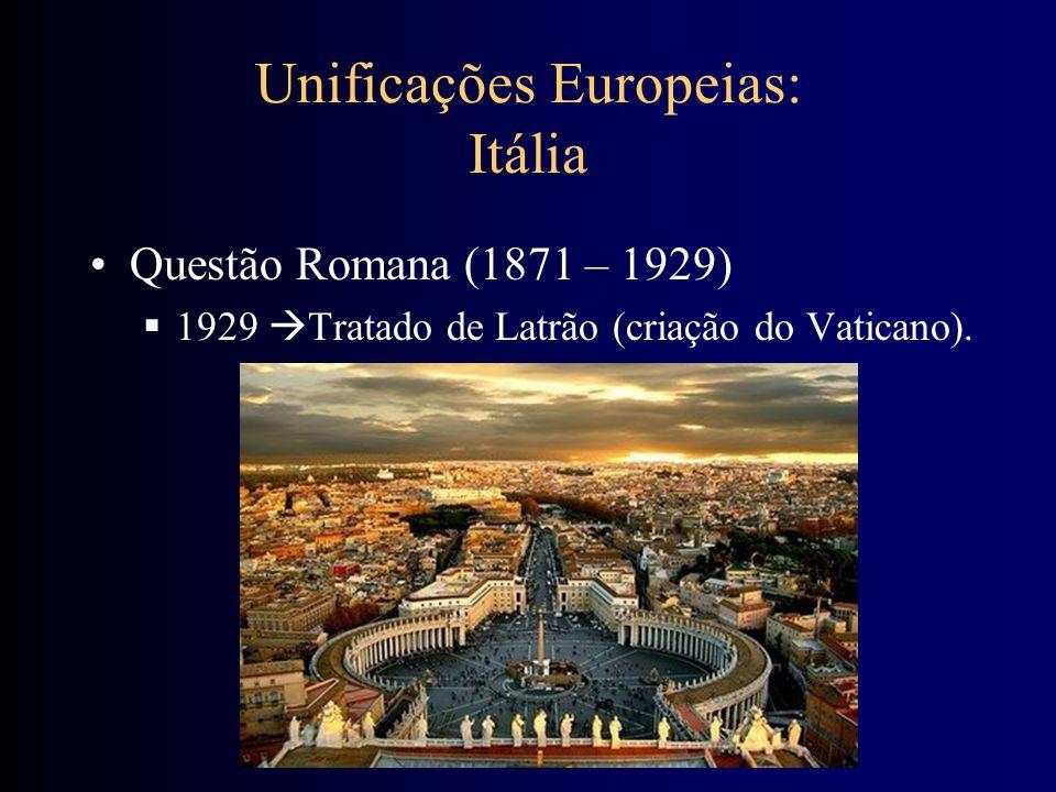 Unificações Europeias: Itália