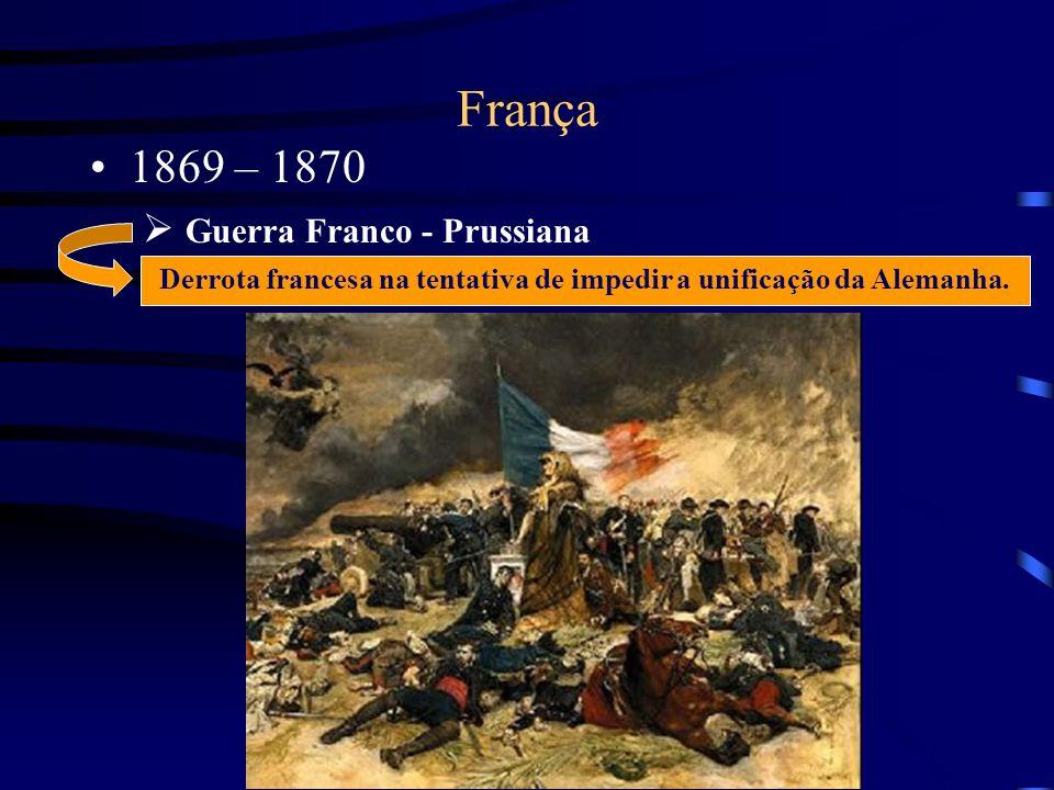 Derrota francesa na tentativa de impedir a unificação da Alemanha.