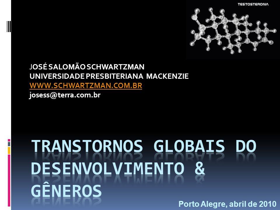 Transtornos Globais do desenvolvimento & gêneros