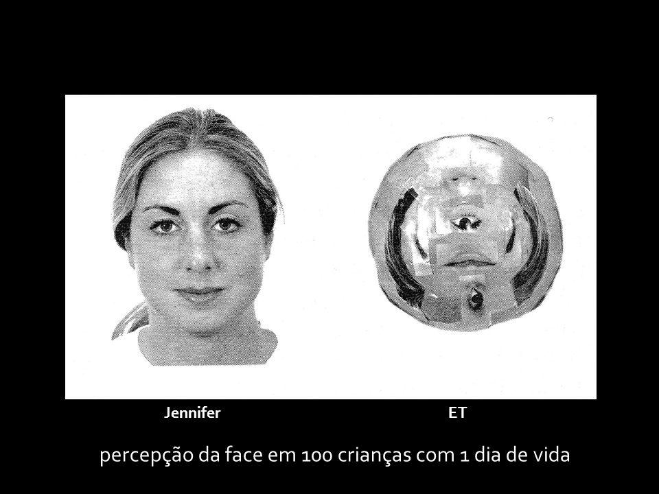 percepção da face em 100 crianças com 1 dia de vida