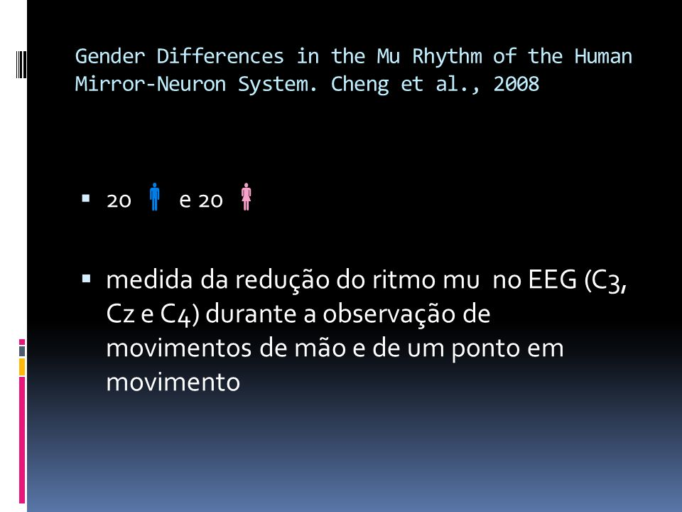 Gender Differences in the Mu Rhythm of the Human Mirror-Neuron System