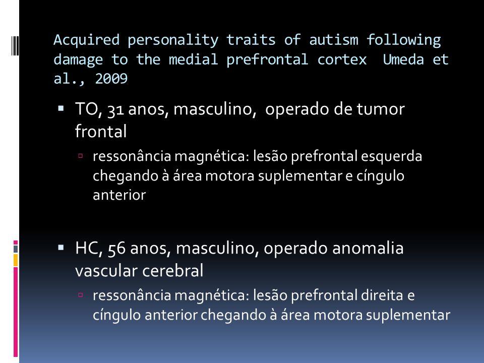 TO, 31 anos, masculino, operado de tumor frontal