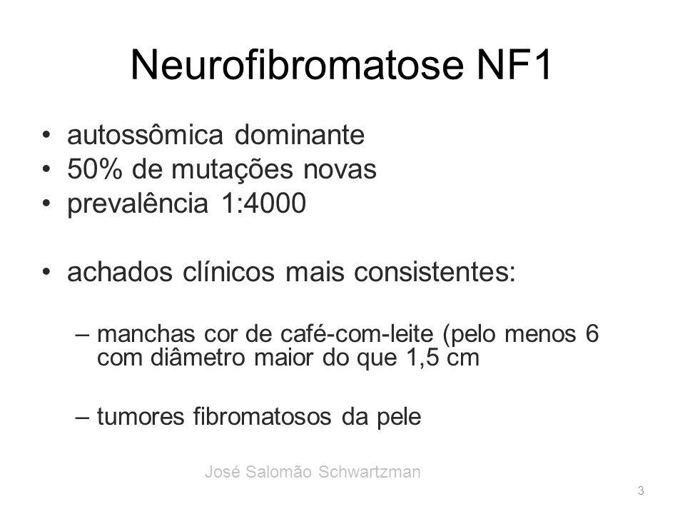 Neurofibromatose NF1 autossômica dominante 50% de mutações novas