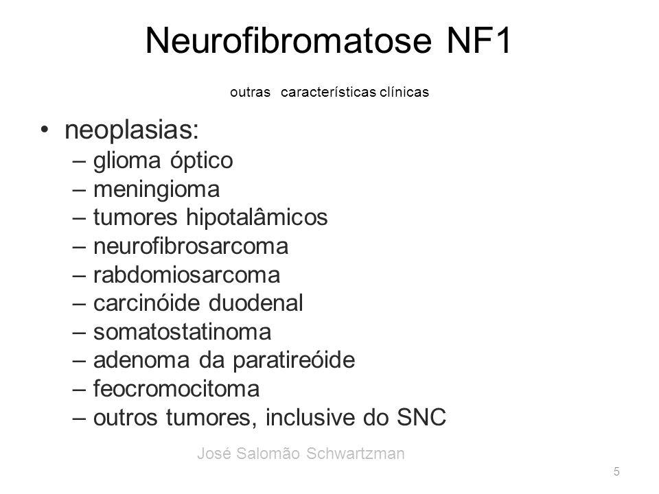 Neurofibromatose NF1 outras características clínicas