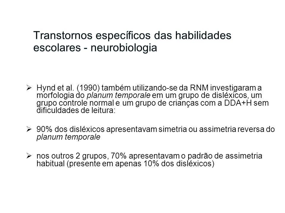 Transtornos específicos das habilidades escolares - neurobiologia