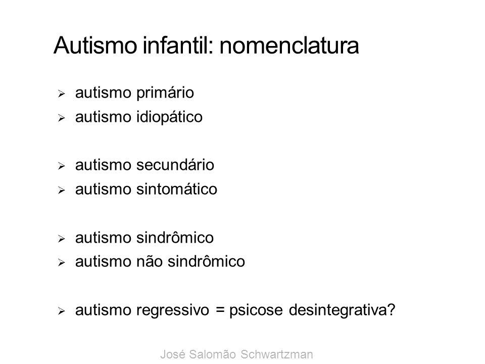Autismo infantil: nomenclatura