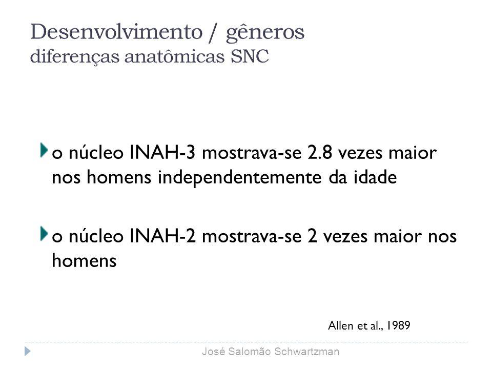 Desenvolvimento / gêneros diferenças anatômicas SNC