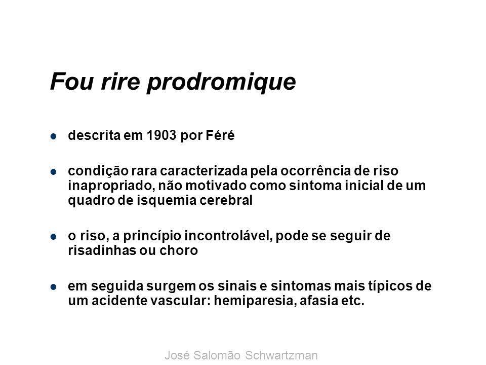 Fou rire prodromique descrita em 1903 por Féré