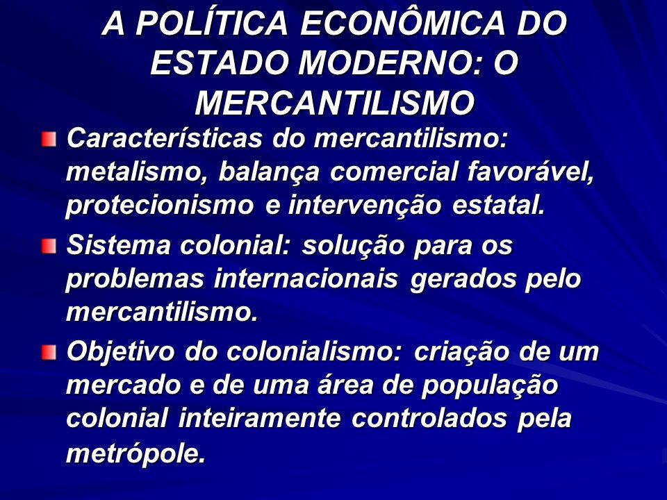 A POLÍTICA ECONÔMICA DO ESTADO MODERNO: O MERCANTILISMO