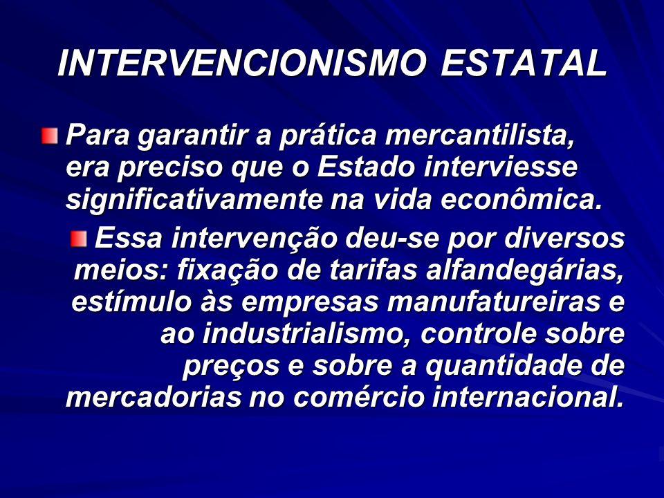 INTERVENCIONISMO ESTATAL