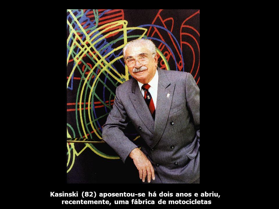 Kasinski (82) aposentou-se há dois anos e abriu,