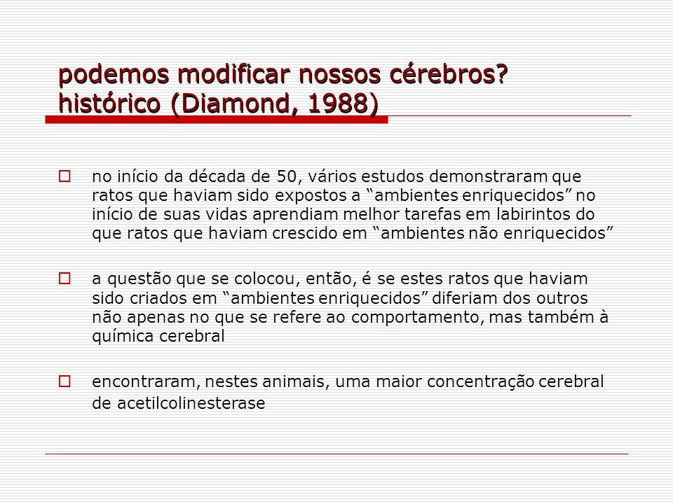podemos modificar nossos cérebros histórico (Diamond, 1988)